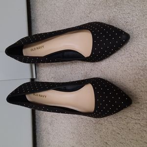 BOGO Free Old Navy black with gold studs pointy high heels